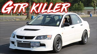 """Evo 9 Punishes Modified GTR on the Highway!  - """"BURNALL4"""""""