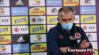 RUEDA DE PRENSA CARLOS QUEIROZ POST PARTIDO COLOMBIA VS. CHILE