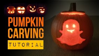 DIY Halloween Snapchat Ghost! How to Carve A Pumpkin!!