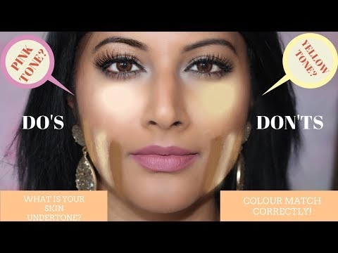 HOW TO PICK THE RIGHT FOUNDATION COLOUR FOR INDIAN SKINTONE &  BEGINNERS