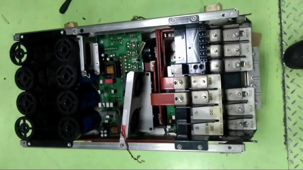 How to disassemble Allen Bradley PowerFlex 755 200kw
