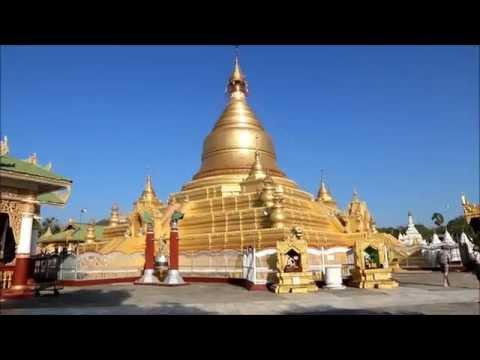 Myanmar, Mandalay. De Kuthodaw pagode.