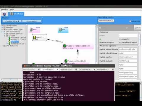 LCMC: MySQL High Availability Cluster, Pacemaker, DRBD