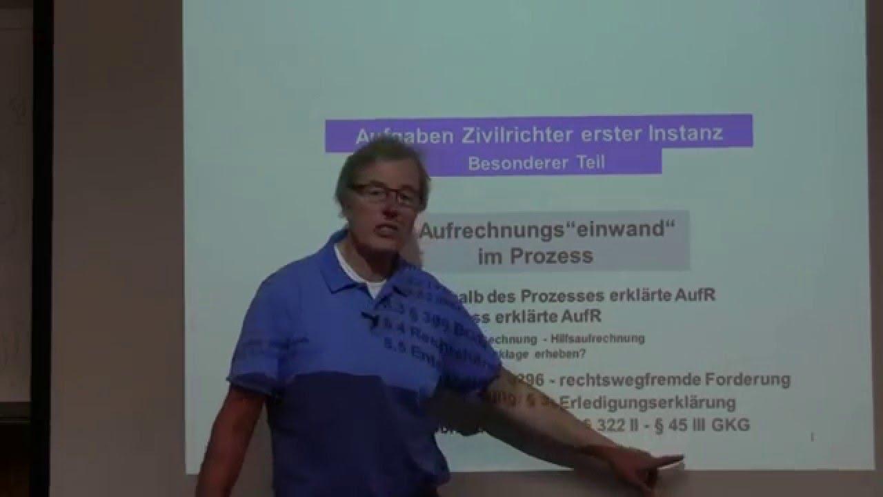 Günter König aufrechnung überblick