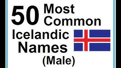 Icelandic Lesson #30: 50 Most Common Icelandic Names (Male) - Pronunciation