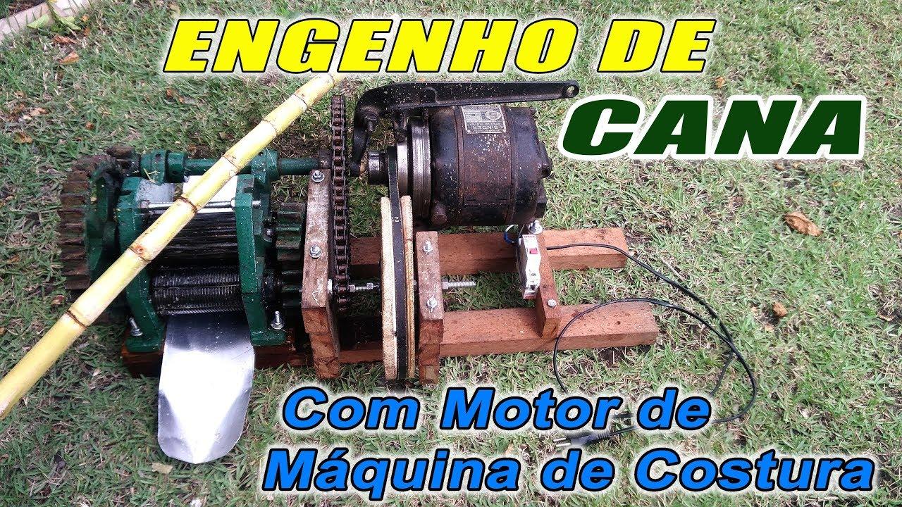 Engenho de Cana Com Embreagem e Motor de Máquina de Costura #1