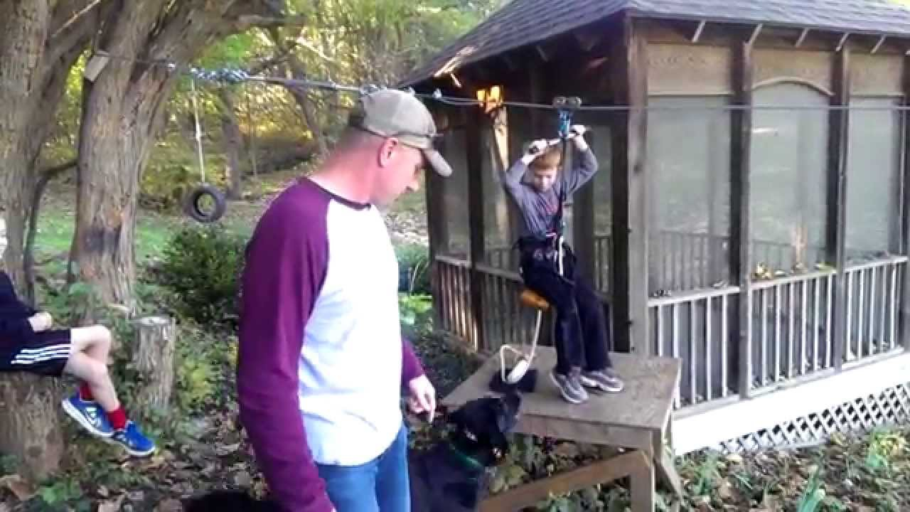 backyard zipline retrieval system youtube