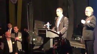Başkanımız Ali Koç'un sahneye çıktığı coşkulu anlar...