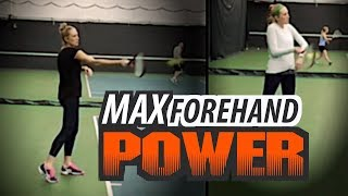 How to: MAX Forehand POWER Potential (Tennis Lesson)