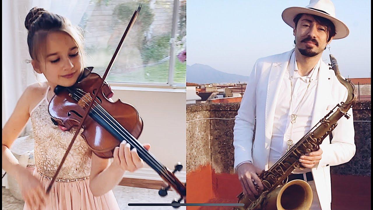 Imagine - John Lennon - Violin and Saxophone - Cover - YouTube