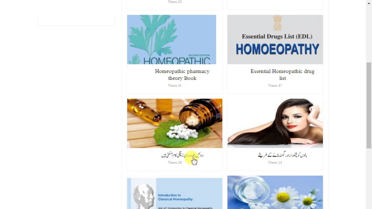 Free Download Homeopathic Books In Pdf Youtube
