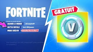 RE-RETYOUR your FREE VBUCKS BEFORE SAISON 8 ON FORTNITE Battle Royal!