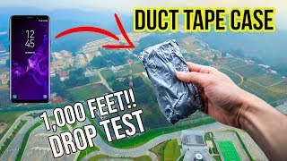Duct Tape Case! Can it survive a 1,000 feet DROP?! Samsung Galaxy S9 | in 4K