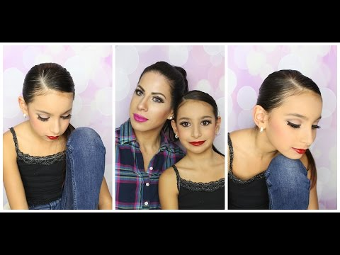 RECITAL MAKEUP AND HAIR TUTORIAL, DANCE MAKEUP COMPETITION FOR KIDS. Stage makeup
