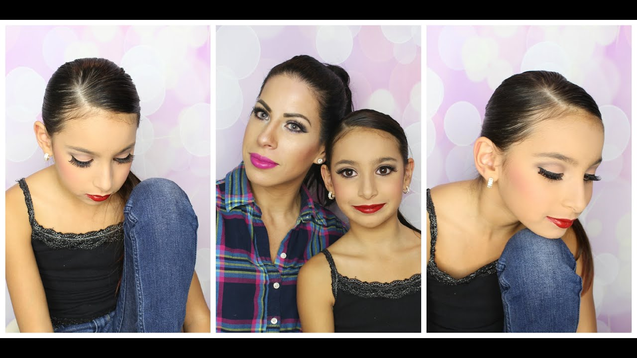 Recital Makeup And Hair Tutorial Dance Makeup Competition For Kids