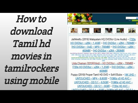 Download How to download tamil hd movies download tamilrockers  proxy site