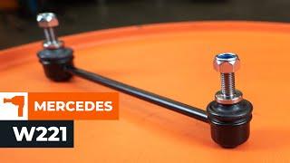 Hvordan man skifter Stabilisatorforbindelse bagtil MERCEDES-BENZ S W221 Vejledning   Autodoc