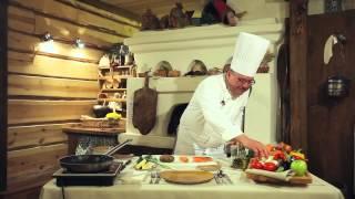 Карельская кухня: лосось жареный с овощами