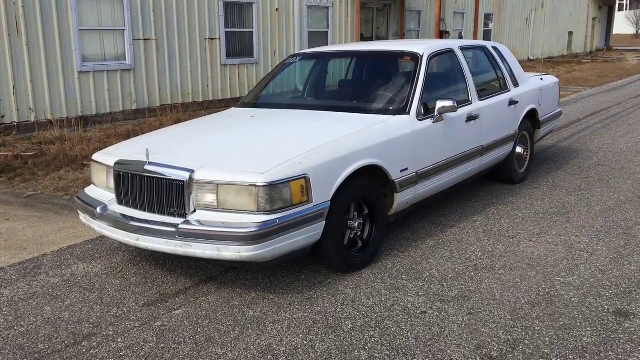 1990 Town Car 5 0 Loveboat Pt 1 Budget Lincoln Drag Car Youtube