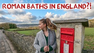Ancient Roman Hot Spring Baths in England | Bath, Somerset | England Road Trip Travel Vlog 3