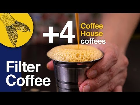 Filter Coffee/Kapi +4 types of Coffee House coffees—How to use a South Indian Coffee Filter at Home