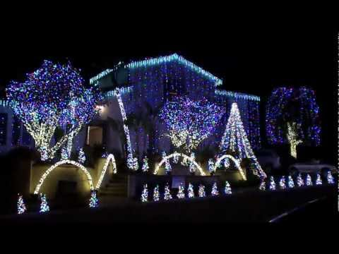 Christmas Lights Dancing To Amazing Grace Music - Contest Winner Nellie Gail Ranch 2010