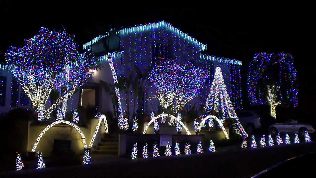 christmas lights dancing to amazing grace music contest winner nellie gail ranch 2010 youtube - Christmas Music Lights