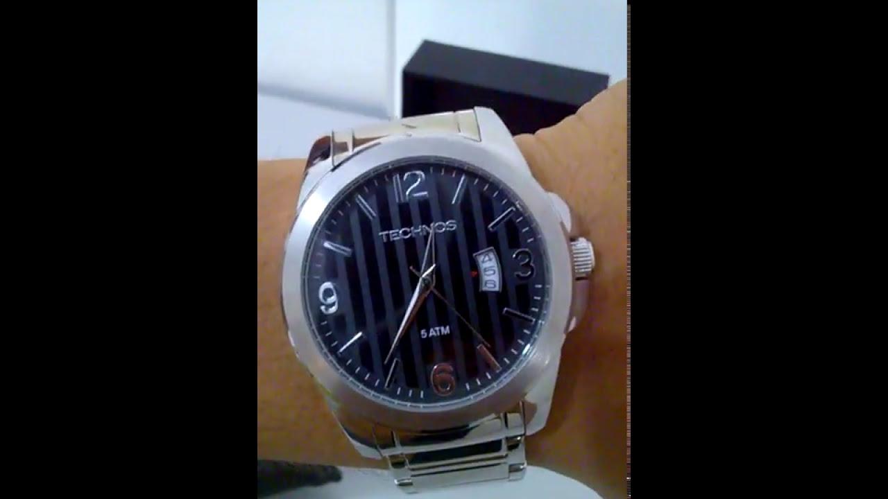 1c928a438cc Relógio Technos 2115 KSA 1P - YouTube