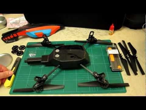 Parrot AR Drone 2.0 - Repair Part 1 of 4 - Remove Central Cross to Replace - Step by Step