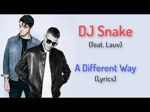 A Different Way (LYRICS) DJ Snake feat. Lauv