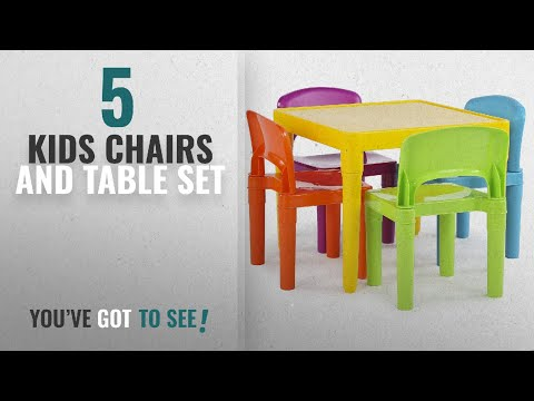 Top 10 Kids Chairs And Table Set [2018]: Tot Tutors Kids Plastic Table and 4 Chairs Set, Vibrant
