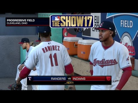 MLB The Show 17 Cleveland Indians vs Texas Rangers Full Game MLB Network Presentation MLB 17