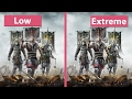 4K UHD | For Honor – PC Low vs. Extreme Graphics Comparison