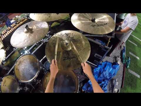 Blue Devils 2017 - METAMORPH - Drum Set Head Cam - Zachary Hudson