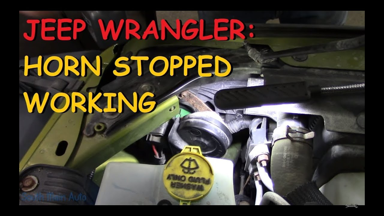 jeep wrangler horn quit working youtube 1997 jeep wrangler horn wiring diagram jeep wrangler horn quit [ 1280 x 720 Pixel ]