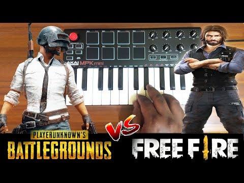 PUBG vs Free Fire | New Game Theme 2019 | Cover By Raj Bharath