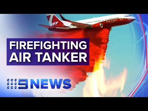 New firefighting jet will tackle Australian bushfires | Nine News Australia