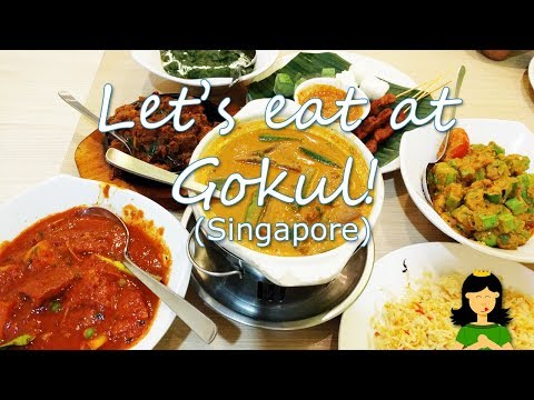 Dinner at Gokul Vegetarian Restaurant in Singapore