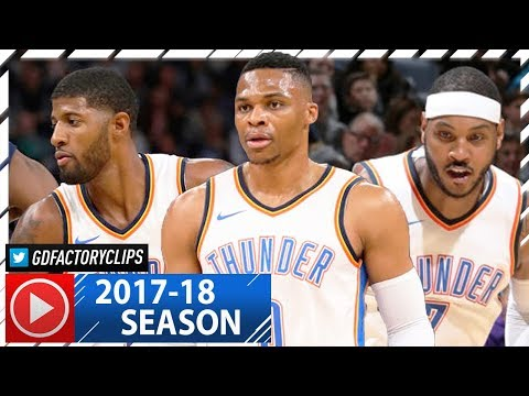 Russell Westbrook, Carmelo Anthony & Paul George Highlights vs Timberwolves (2017.10.27) - 73 Pts!