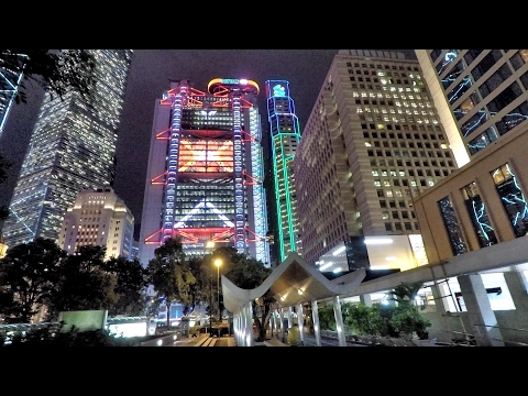 Hong Kong. A Night Walk Around Central District and its Amaz