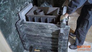 Установка печи Тайга с чугунной топкой ЧТ-1(Сегодня мы устанавливаем красивейшую печь для бани - Тайга. Печь выполнена в виде сруба из натурального..., 2015-02-07T23:14:46.000Z)
