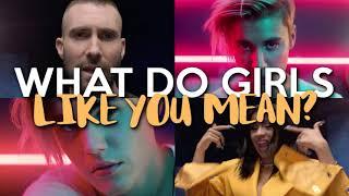 Girls Like You vs. What Do You Mean (MASHUP) Maroon 5, Cardi B, Justin Bieber