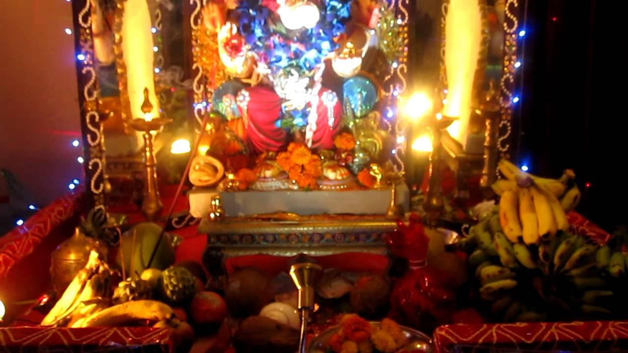 Wall Decoration Ideas For Ganpati : Home decoration of ganpati by nilesh sony chaitanya
