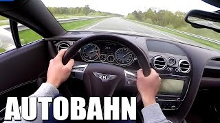 Bentley Continental GT V8 AUTOBAHN POV 272 km/h Acceleration Speed Test Drive