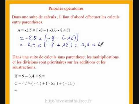 4eme cours de maths sur les nombres relatifs et les ...