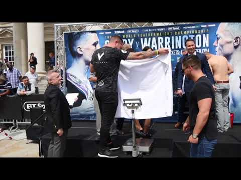 TOWEL GOES UP! - JACK CATTERALL v CHRISTOPHER SEBIRE - OFFICIAL WEIGH IN (LEEDS)