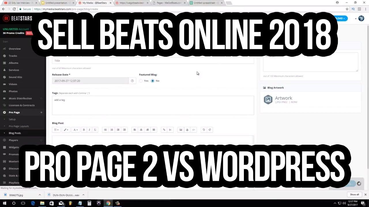 Sell Beats Online 2018: Beatstars Pro Page vs Wordpress Beat Site Review