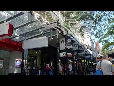 The Brisbane Queen Street Mall in Brisbane Queensland in Australia