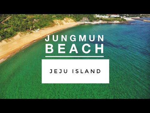 JUNGMUN BEACH & WATERFALL || Jeju Island, South Korea (DJI Phantom Drone) 제주 || TRAVEL VLOG
