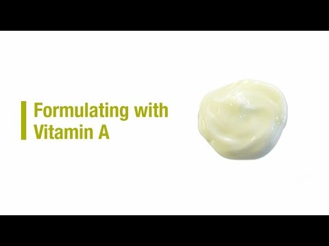 Formulating with Vitamin A